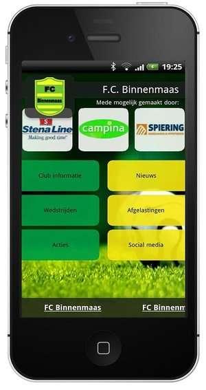 FC Binnenmaas app opgezegd