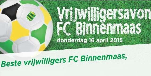 FCBinnenmaas-uitnodiging vrijwilligersavond