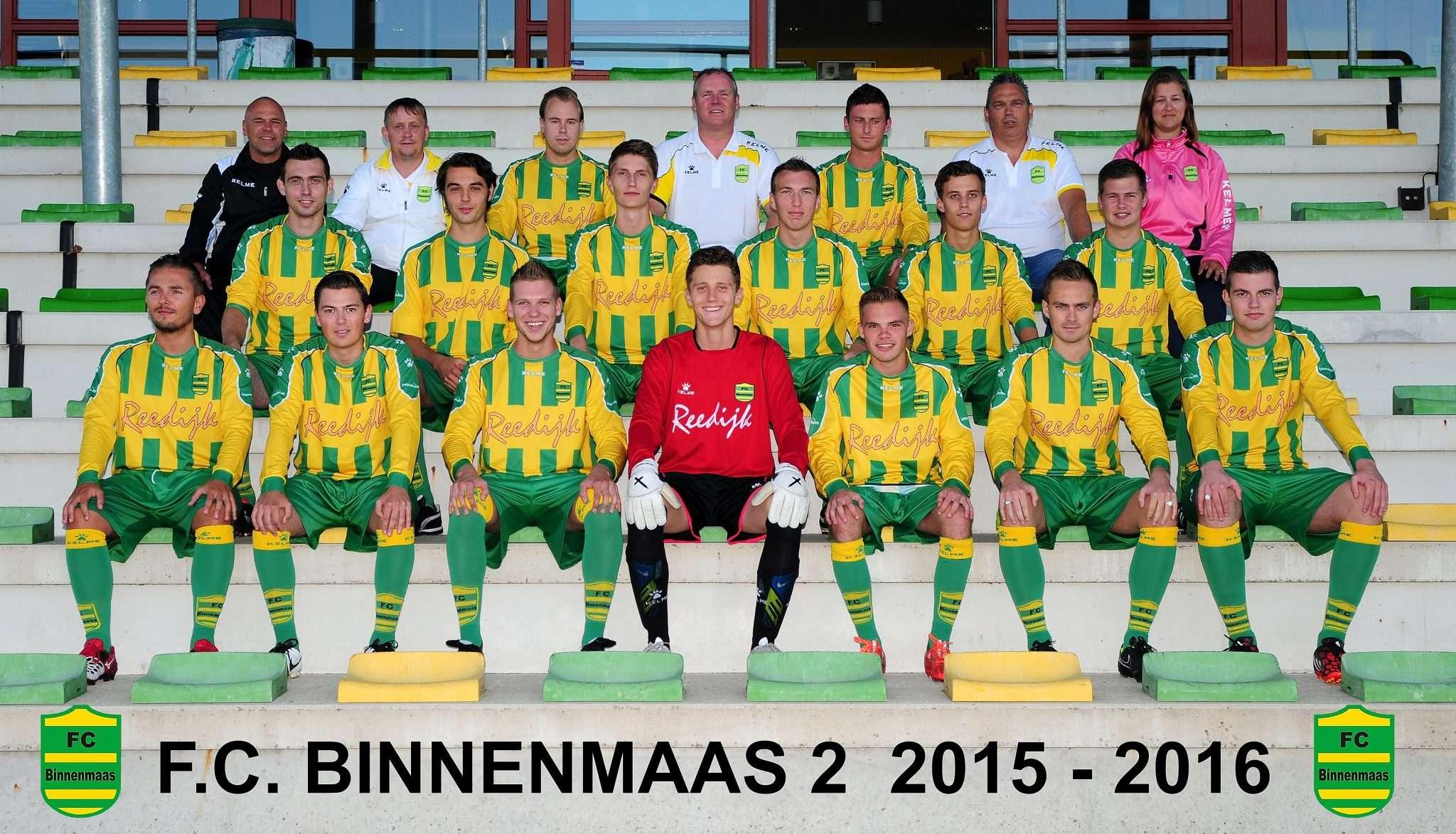 FC Binnenmaas 2 gaat voor het kampioenschap