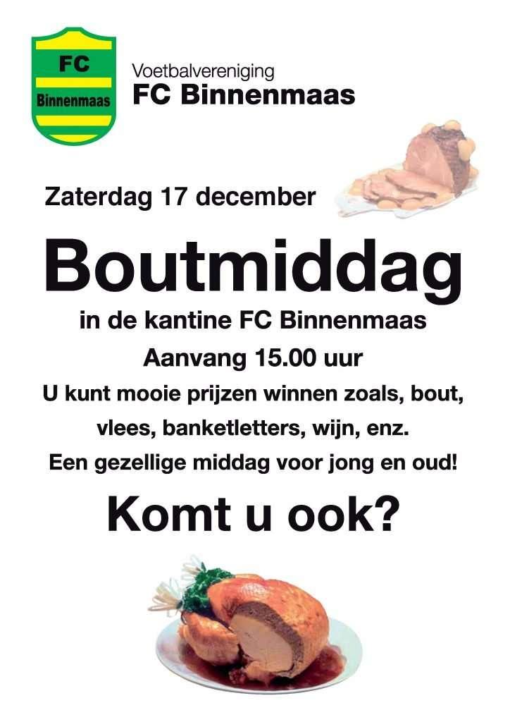 Boutmiddag @ Kantine FC Binnenmaas