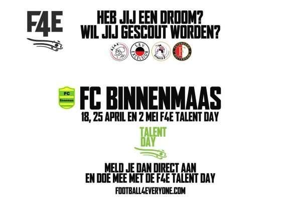 FC Binnenmaas en Football4Everyone gaan samenwerking aan