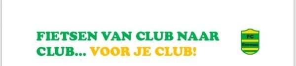 Fietsen van club naar club...voor je club